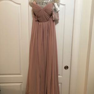 Jenny Yoo Collection Mira Dress sz 8 whipd apricot